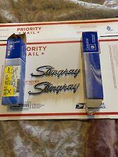 2 NOS 1969 - 75 CORVETTE STINGRAY FENDER EMBLEM GM #3956216 L88 LS6 NCRS OEM