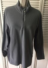Women's Champion Fleece Grey Top With Quarter Zip Front - Size XXL