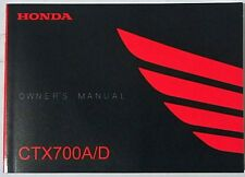 Manual de Usuario Owner's Manual Honda CTX 700 A / D 00X32-MJF-8000