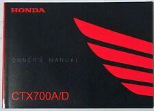 Manual de Usuario Owner's Manual Honda CTX 700 A / D 00X32-MJF-8000