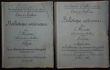 CEN MUZEAU: Cours d'Artillerie  - Balistique extérieure  / 1883