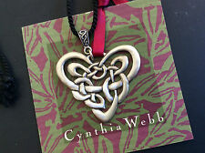 Pewter Pendent on a Black Cord by Cynthia Webb