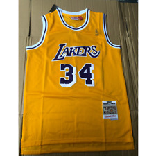NBA Shaq O'Neal #34 Los Angeles Lakers Basketball Vintage Stitched Jersey M-XL