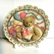 Very Rare Cherished Teddies 482064A Birthday Party Cake Plaque Easel Stand Nib 9