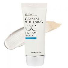 3W CLINIC Crystal Whitening CC Cream 50ml SPF50 PA+++ Glitter Beige New