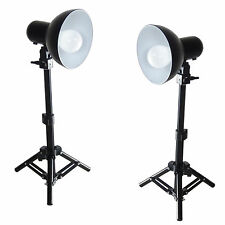 Kit 2xPS01 LED 300W Studioset with Backlight Support Stand Reflector Save Energy