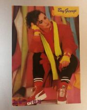 1980's Boy George  official postcard by local entertainment magazine Singapore