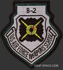 USAF WEAPONS SCHOOL - B-2 - Nellis AFB, NV - ORIGINAL AIR FORCE PATCH on LEATHER