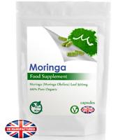 100 x Organic Moringa Oleifera 500mg Capsules, Immune, Anti-inflammatory, UK (V)