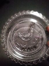 8 Vintage Christmas 1984 Quail Pairpoint Glass Cup Plate