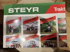 Prospekt Sales Brochure Steyr Traktoren 8180 Frontlader Phantom Hamster Agrar