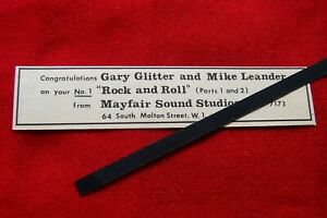 GARY GLITTER ORIGINAL 1972 VINTAGE ADVERT MAYFAIR SOUND STUDIOS CONGRATULATIONS