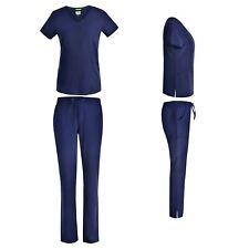 Women's 4 Way STRETCH Medical Uniform Nursing Scrub Set Top 6 Pocket Pants NWT