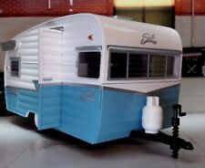 More details for lgb 1:24 scale blue 1961 shasta airflyte american caravan diecast detailed model