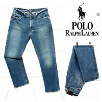 ⭐ Mens POLO RALPH LAUREN regular straight leg salvage denim Jeans size W34 L32