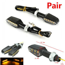 2x Universal Dual Side Motorcycle Bicycle 9-LED Turn Signal Indicator Light Lamp