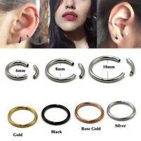Steel Segment Ring Ear Piercing Nose Rings Captive Hoop Piercings Body Jewelry