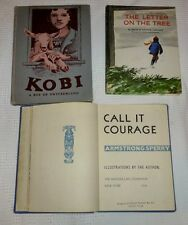 Lot 3 Books The Letter on the Tree  Call It Courage   Kobi a Boy of Switzerland