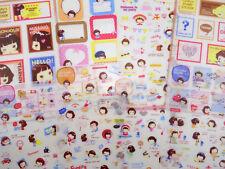 8 pages Korean girl stickers! Kawaii stickers, school, workout, cute emoji, food