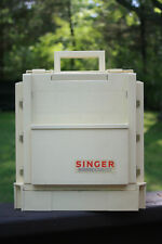 """Singer Homechest Sewing Caddy Storage Fold-up 1983 11"""" x 10"""" Nice!"""