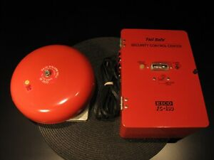 """VINTAGE EICO FC100 """"FAIL SAFE"""" SECURITY BOX AND 8'' ALARM BELL SA-25 - WORKS !!!"""