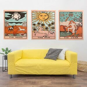 Mandala Tarot Card Tapestry Wall Hanging Bedroom Sun Moon Tapestries Wall Decor