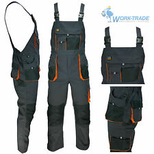 Arbeitslatzhose Arbeitskleidung Latzhose Schwarz Orange Arbeitshose Gr. 46 - 62