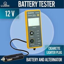 12V Car Battery Alternator System Tester Cranking Plug In Cigarette Lighter Plug