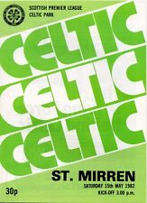 More details for 81/82 celtic v st mirren (league clincher – 15th may)