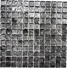 Glasmosaik uni schwarz Struktur Fliesenspiegel Küche Art: 126-8BL17 | 10 Matten