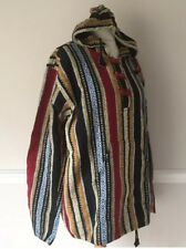 Mens XL Unisex 48 Inch hoody hooded Indian cotton Striped Top Size 16 Jacket