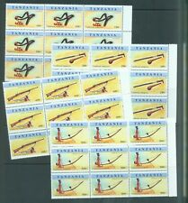 More details for tanzania 1998 weapons   sg.2132-5   set of 4 in marginal blocks of 9 mnh