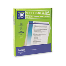 100 Non-Glare Standard Weight Sheet Protectors 3 Hole Plastic Page Protectors