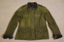 Barbour Valiant Waxed Cotton Jacket Heritage Womens Size 10 Fantastic Condition