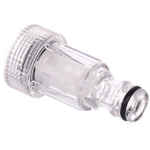 """Clear Plastic Pressure Washer Inlet Filter 3/4"""" Hozelock Compatible fits Karcher"""