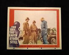 The Day The Earth Stood Still 1951 Lobby Card #4 Vintage Sci-Fi Michael Rennie