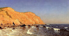 Oil painting sanford robinson gifford - clay bluffs on no mans land landscape @@