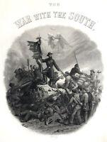 Civil War Scene, ULYSSES GRANT DEAD SOLDIERS IN PILE ~ 1867 Art Print Engraving