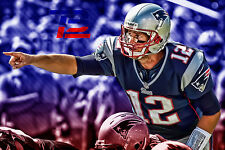 New England Patriots Tom Brady 24x36 Home Art Decor High Glossy Banner Poster