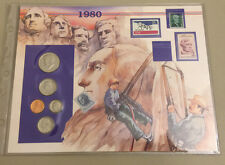 Calhoun Society 1980 Proof Set & Stamps Honoring Mt Rushmore - Great Presidents