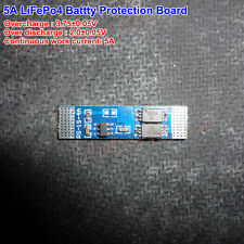 5A 3.2V 1S BMS Circuit PCB Protection board For 18650 26650 LiFePO4 Battery Cell