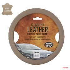 Brand New Premium Genuine Leather Car Truck Beige Steering Wheel Cover