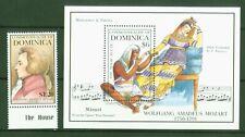 Dominica 1992 - Mozart - Die Zauberflöte - Monostatos + Pamina 1640 + Block 228