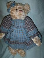 "Douglas Co Cuddle Toys Country Teddy Bear 15"" Plush Soft Toy Stuffed Animal"