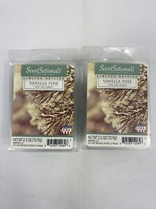 ScentSationals VANILLA PINE Scented WAX CUBES / 2 Packs / 2.5 Oz Each