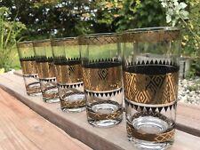 Lot of 5 Vintage MCM Culver Highball Glasses