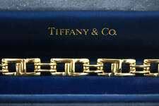 Original Tiffany & Co. Heavy Link Bracelet In 18K Yellow Gold Weighs 47.3 Grams