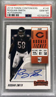 2018 Panini Contenders Roquan Smith RC Rookie Ticket Auto PSA 10 Gem Mint Pop 40