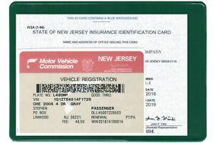Insurance holder registration card document car auto organizer
