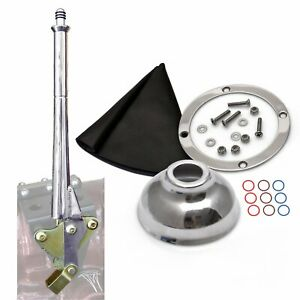American Shifter 16 Trans E Hand Brake with Black Boot Silver Ring and Cap